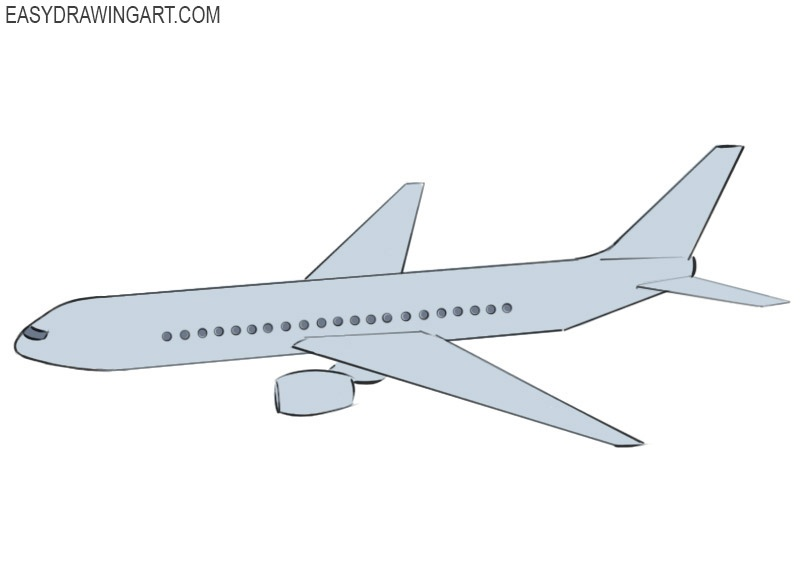 Airplane Coloring Page easy