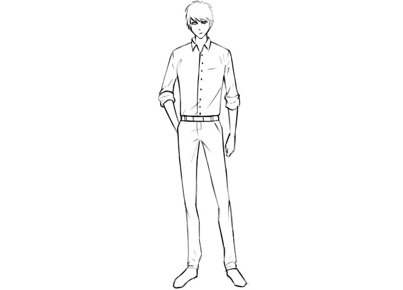 Anime Character Coloring Page