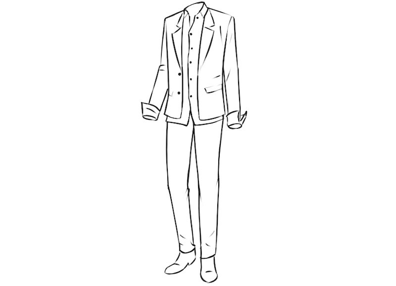 Anime Clothes Coloring Page