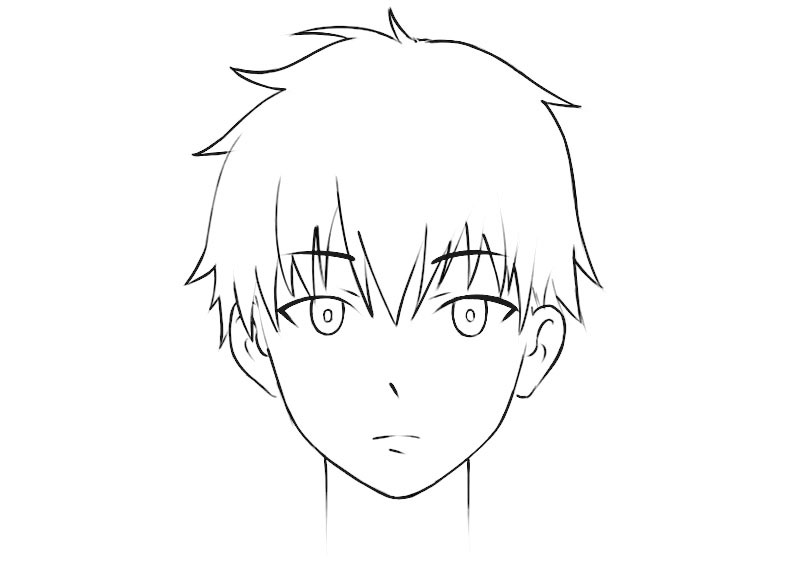 Anime Face Coloring Page