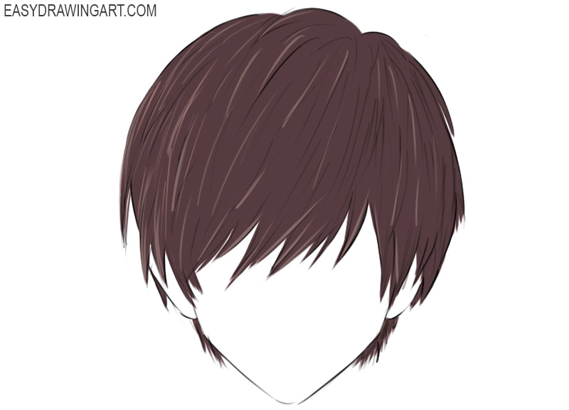 Anime Hair Coloring Page easy