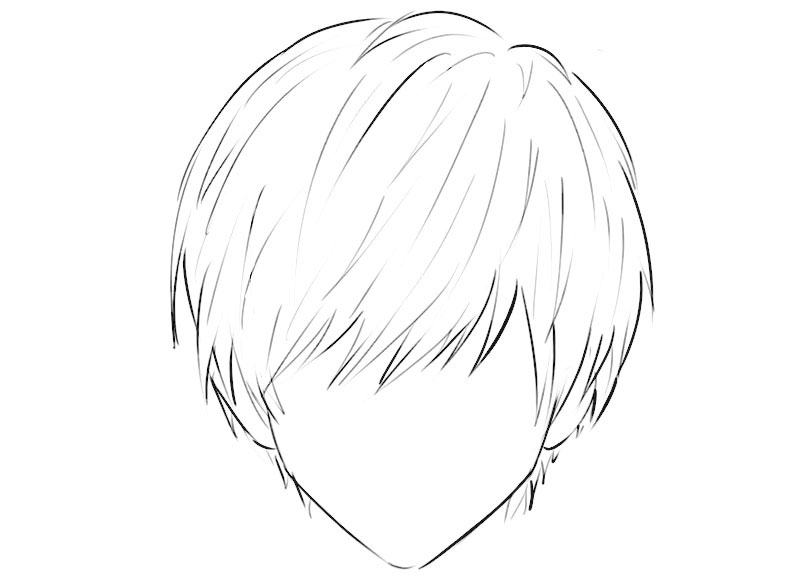 Anime Hair Coloring Page