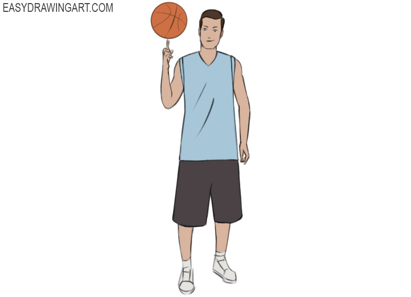 Basketball Player Coloring Page easy