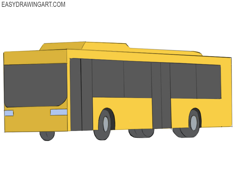 Bus Coloring Page easy