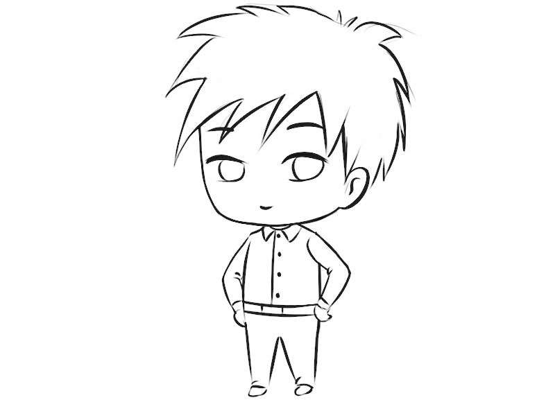 Chibi Character Coloring Pages