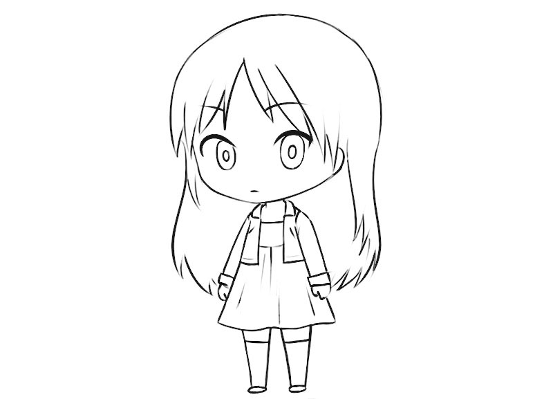 Chibi Girl Coloring Page