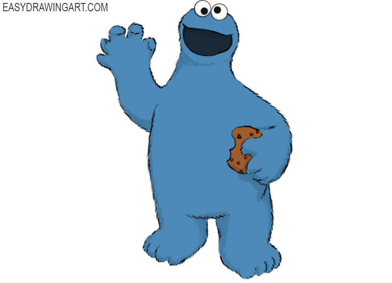Cookie Monster Coloring Page easy