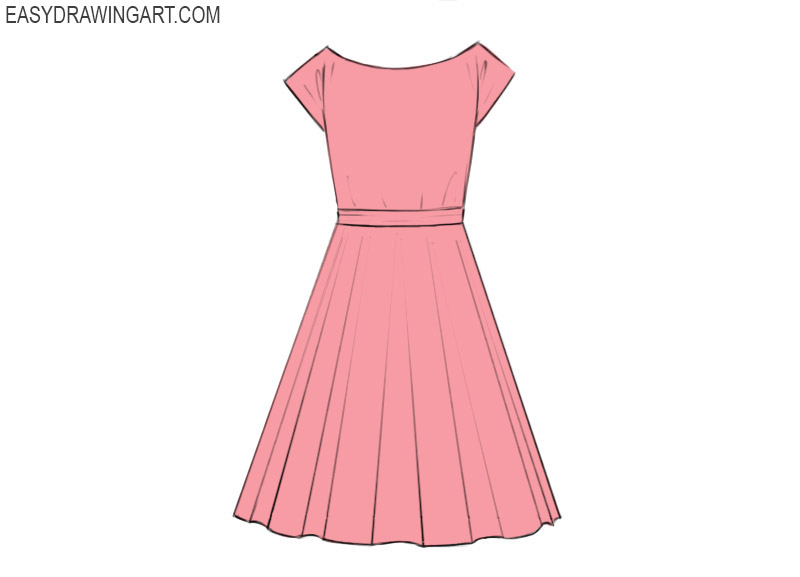 Dress Coloring Pages