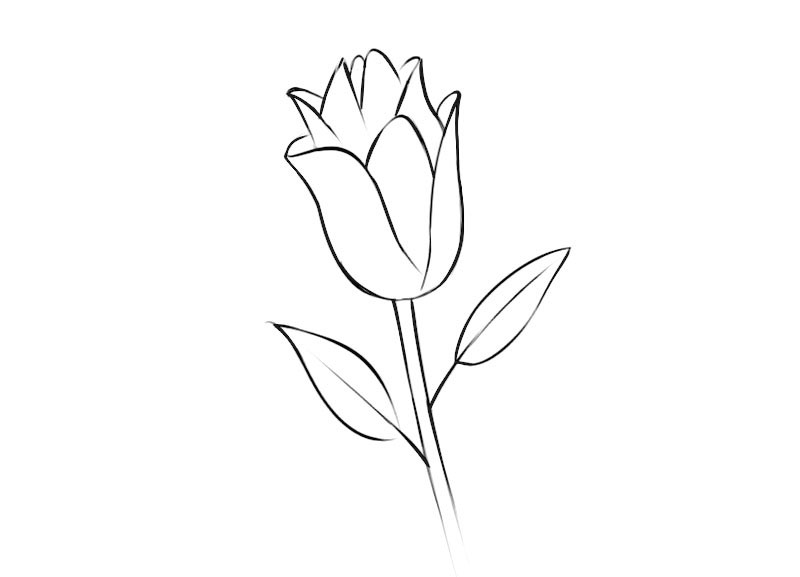 Flower Coloring Page easy