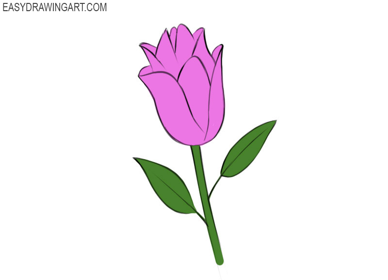 Flower Coloring Page for beginners