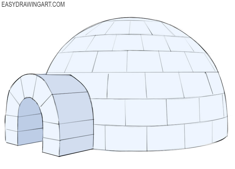 Igloo Coloring Page easy