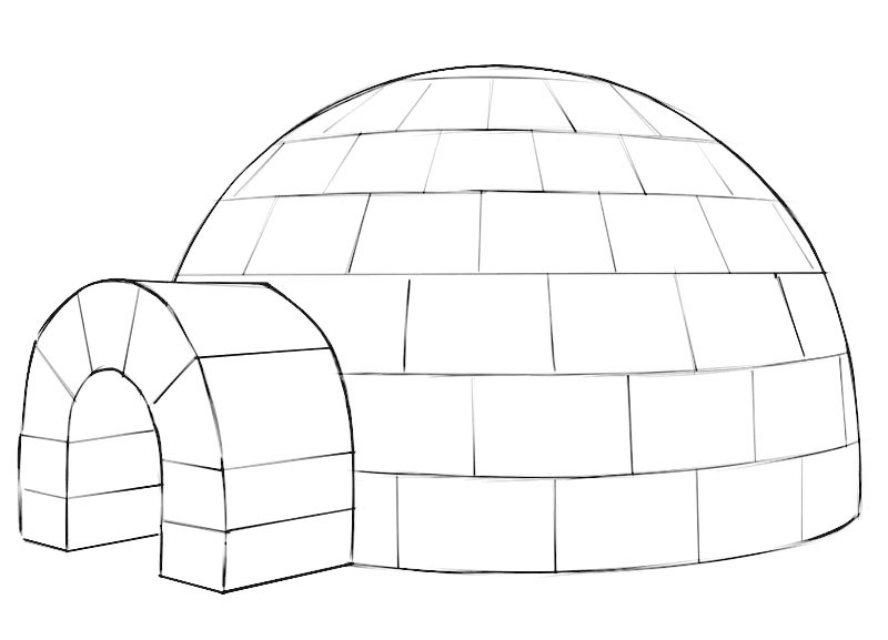 Igloo Coloring Page