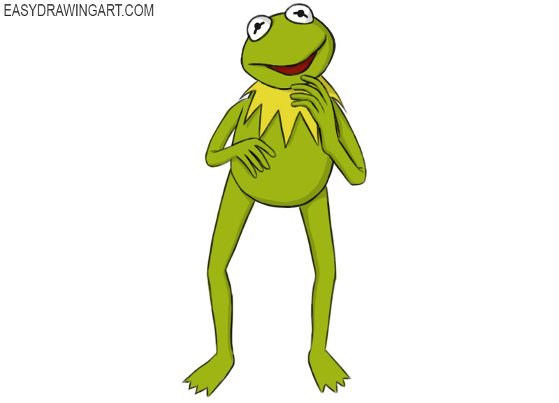 Kermit the Frog Coloring Page easy