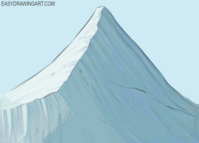 Mountain Bolt Coloring Page easy