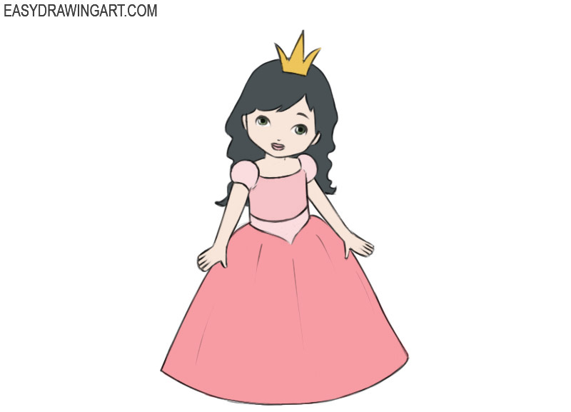 Princess Coloring Page easy