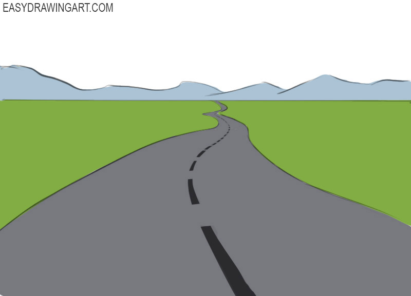 Road Coloring Pages