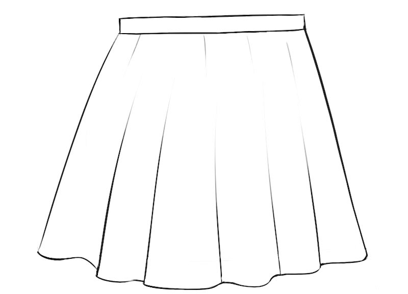 Skirt Coloring Page