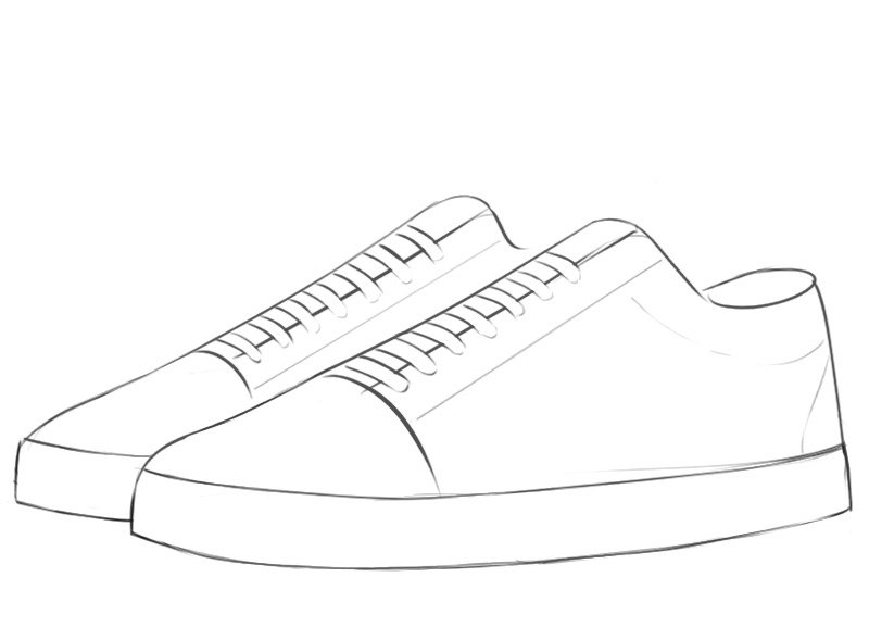 Sneakers Coloring Page