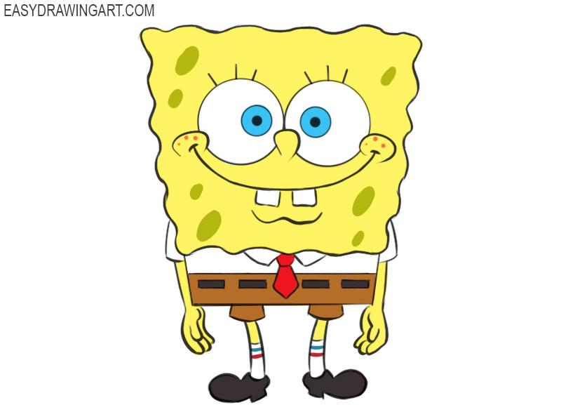 Spongebob Coloring Page easy