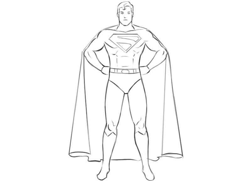 Superhero Coloring Page Coloringpagez.com