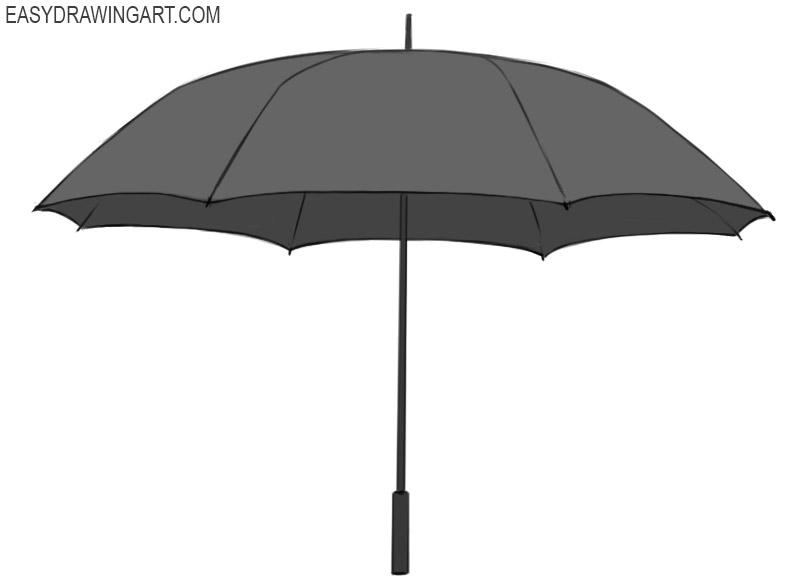 Umbrella Coloring Page easy