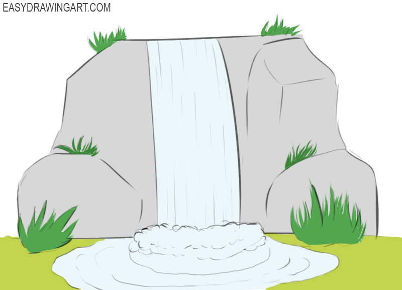 Waterfall Coloring PageS