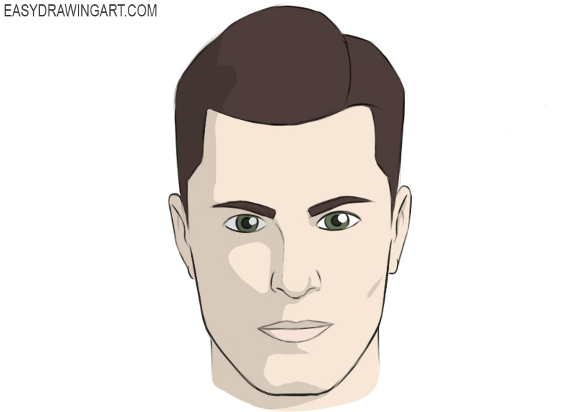 face coloring page