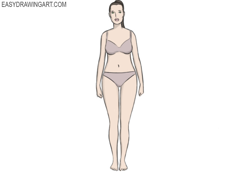 female body coloring page