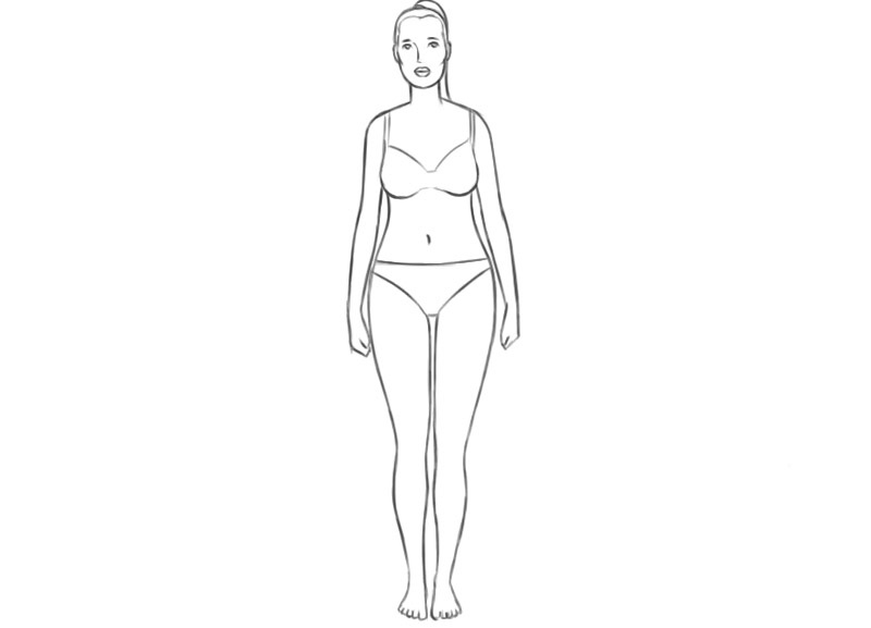 female body coloring pages