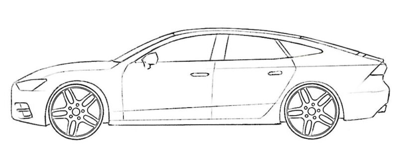 Audi A7 Coloring Page