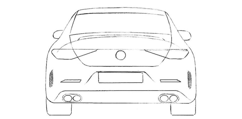 Car from Back Coloring Page