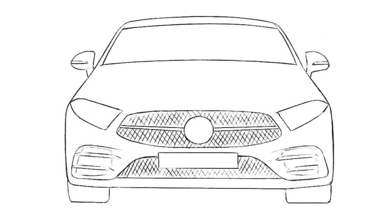 Car from the Front Coloring Page easy