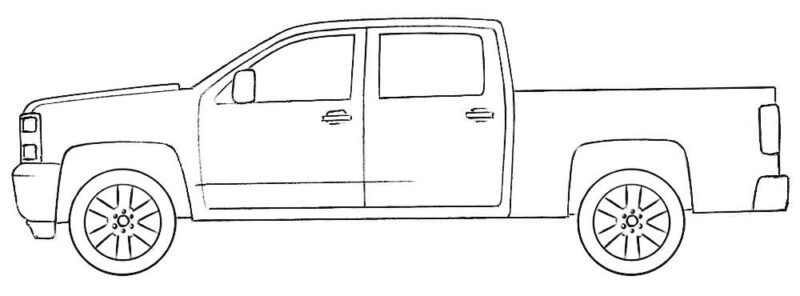 Chevy Truck Coloring Page