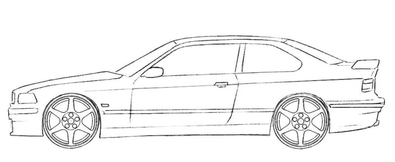 Coupe Car Coloring Page