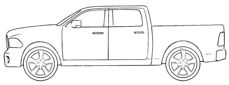 Dodge Truck Coloring Page