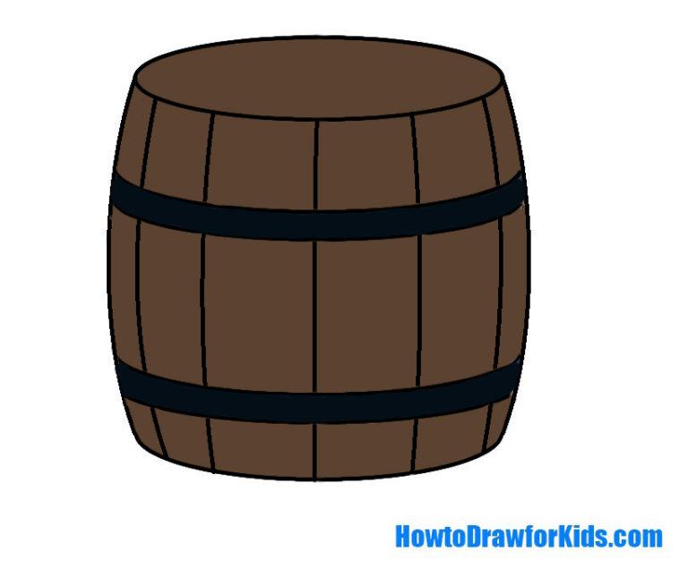 Easy Barrel Coloring Page