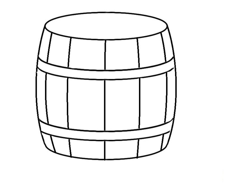 Easy Barrel Coloring Pages