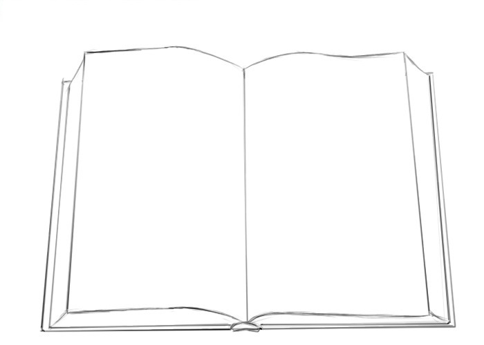 Easy Book Coloring Pages