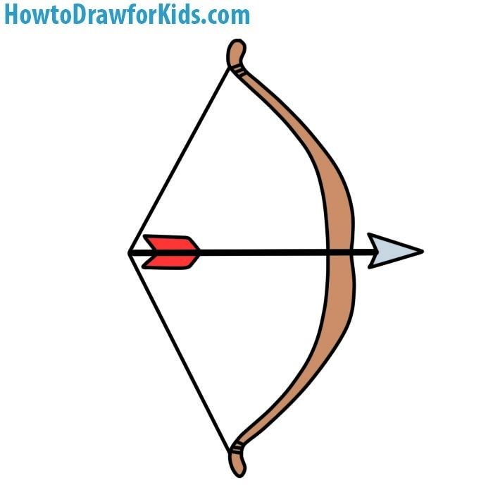 Easy Bow and Arrow Coloring Page