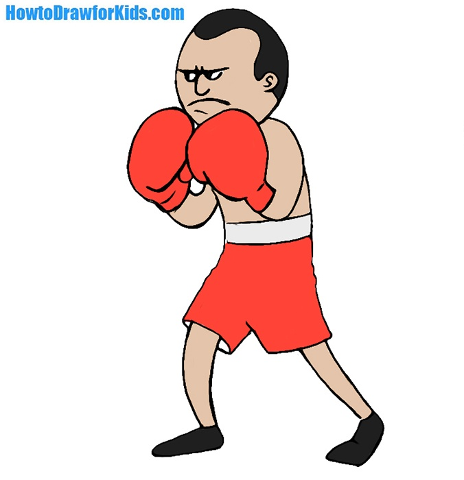 Easy Boxer Coloring Page