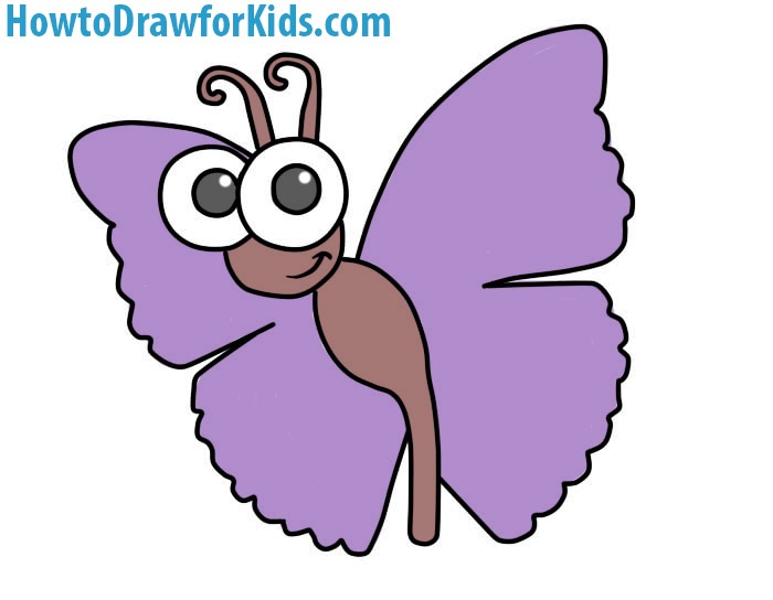 Easy Butterfly Coloring Page
