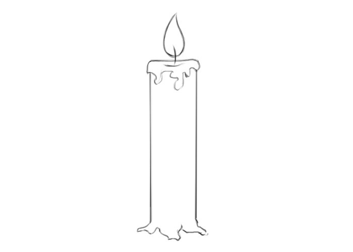 Easy Candle Coloring Pages