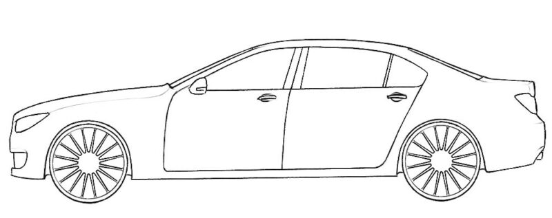 Easy Car Coloring Page