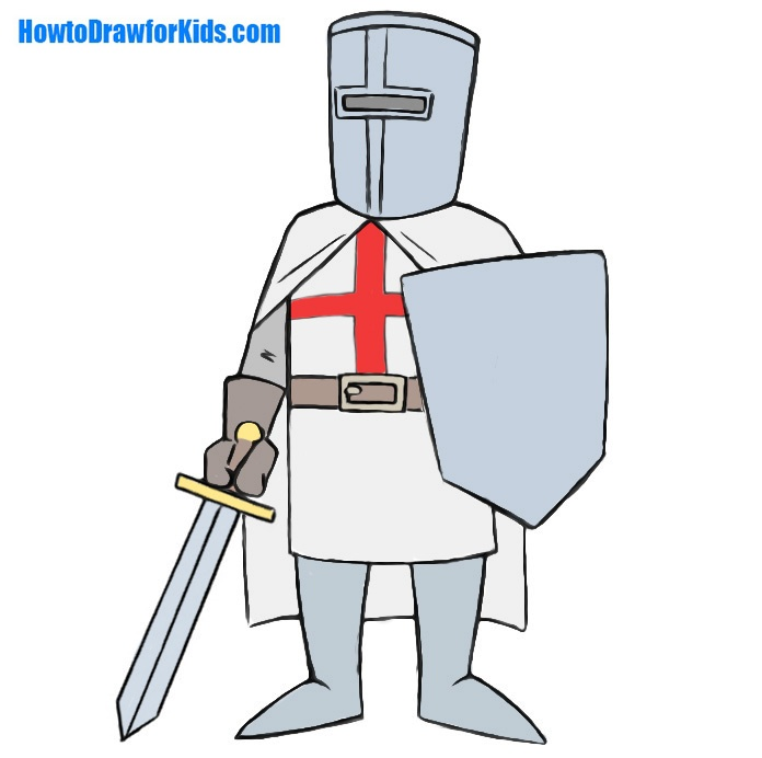 Easy Crusader Coloring Page