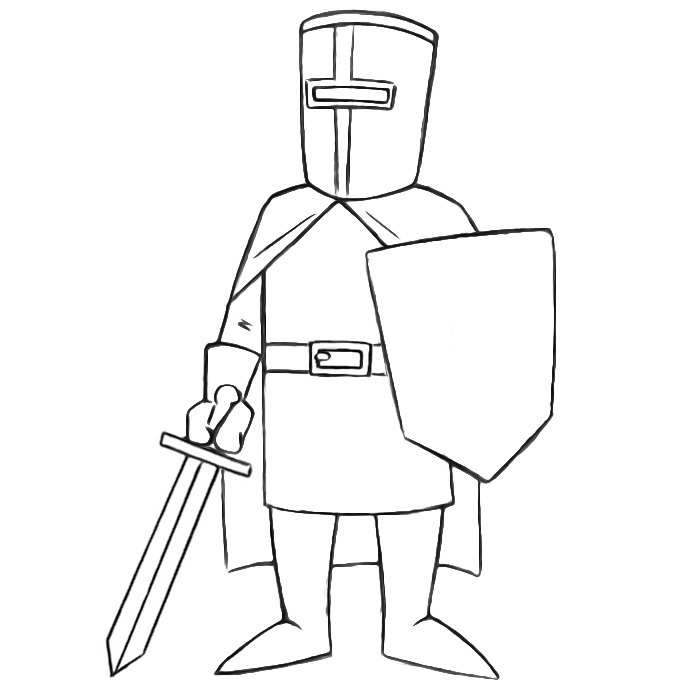 Easy Crusader Coloring Pages
