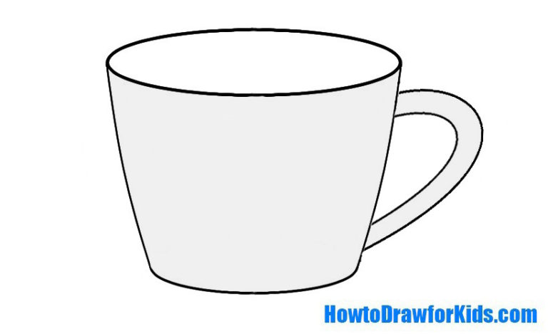 Easy Cup Coloring Page