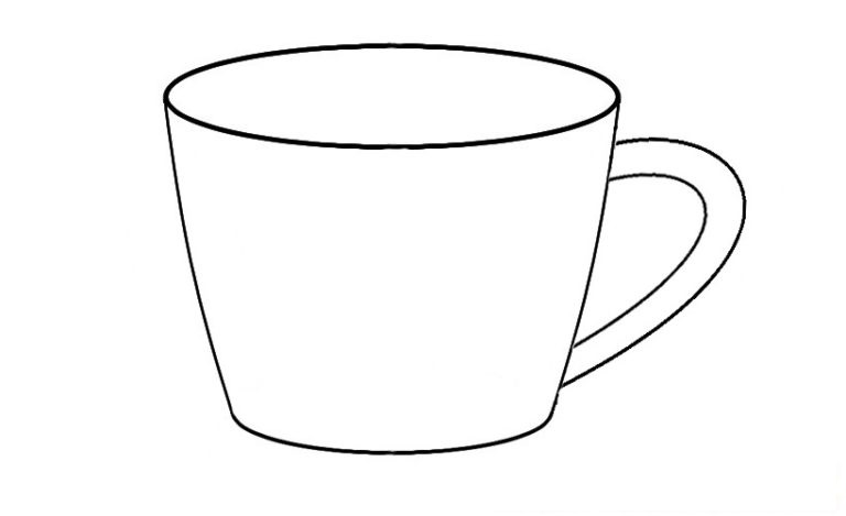 Easy Cup Coloring Pages