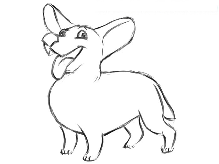 Easy Dog Coloring Page