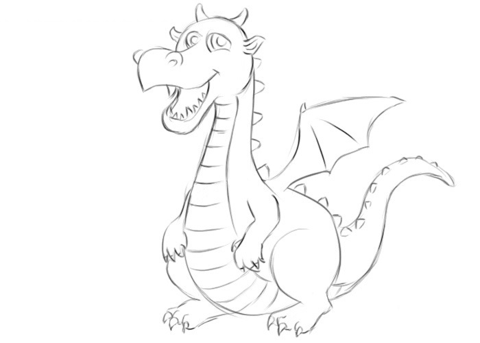 Easy Dragon Coloring Pages