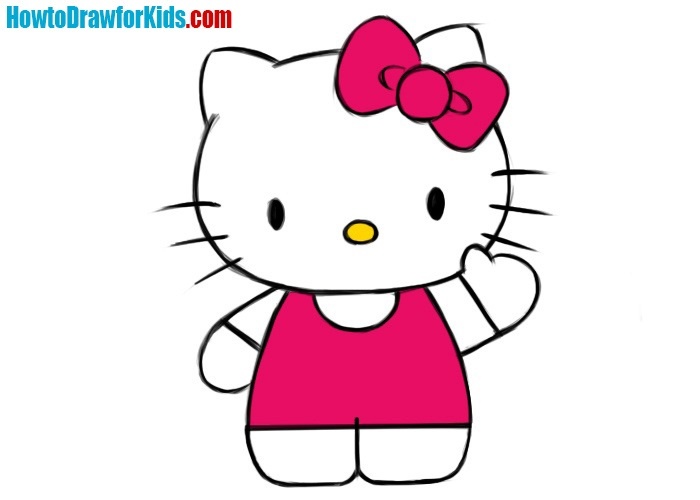 Easy Hello Kitty Coloring Page